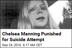 Chelsea Manning Punished for Suicide Attempt