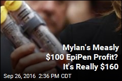Mylan's Measly $100 EpiPen Profit? It's Really $160