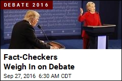 Fact-Checkers Weigh In on Debate