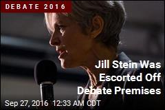 Jill Stein Was Escorted Off Debate Premises
