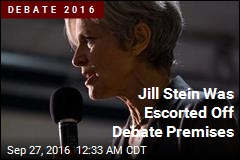 Jill Stein Was Escorted Off Debate Premises