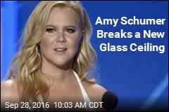 Amy Schumer Breaks a New Glass Ceiling