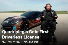 Quadriplegic Gets First Driverless License