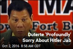 Duterte 'Profoundly' Sorry About Hitler Jab