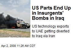 US Parts End Up in Insurgents' Bombs in Iraq