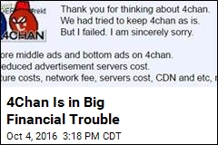 4Chan Is in Big Financial Trouble