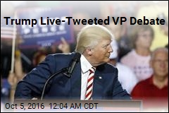 Trump Live-Tweeted VP Debate