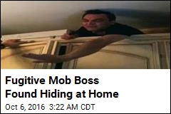 Fugitive Mob Boss Found in Home Bunker