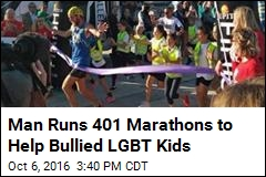 Man Runs 401 Marathons to Help Bullied LGBT Kids