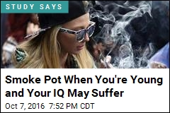 Smoke Pot When You're Young and Your IQ May Suffer