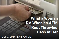 A Single Mom's Reaction to a Money-Spewing ATM