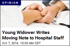 Young Widower Writes Moving Note to Hospital Staff