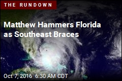Now a Category 3, Matthew Hammers Florida
