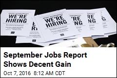September Jobs Report Shows Decent Gain