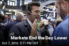 Markets End the Day Lower