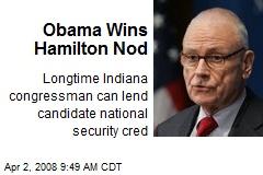 Obama Wins Hamilton Nod
