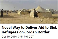 Refugees on Jordan Border May Finally Get Supplies Via Cranes