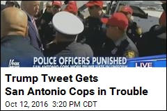 San Antonio Cops to Be Punished Over Trump Hats