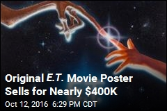 Original E.T. Movie Poster Sells for Nearly $400K