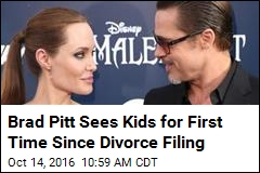 Brad Pitt Sees Kids for First Time Since Divorce Filing