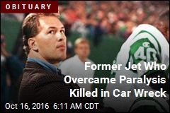 Former Jet Who Overcame Paralysis Killed in Car Wreck