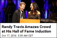 Randy Travis Sings Again at Hall of Fame Induction