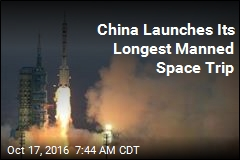 Blastoff for China's Longest Manned Space Mission