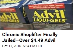 Chronic Shoplifter Finally Jailed—Over $4.49 Advil
