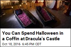 You Can Spend Halloween in a Coffin at Dracula's Castle