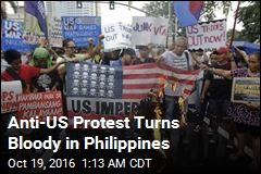 Police Van Rams Protesters Outside US Embassy