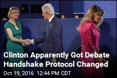 Bill Clinton May Not Be Shaking Hands Tonight