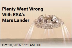 Plenty Went Wrong With ESA's Mars Lander