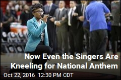 Singer Kneels During Anthem at NBA Game