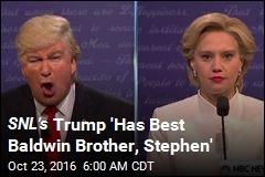 SNL's Trump 'Has Best Baldwin Brother, Stephen'