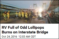 RV Full of Pot-Laced Lollipops Burns on Interstate Bridge