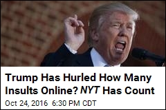 Trump Has Hurled How Many Insults Online? NYT Has Count