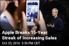 Apple Sees Annual Sales Drop for 1st Time in 15 Years