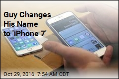 Guy Changes His Name to 'iPhone 7'
