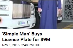 'Simple Man' Buys License Plate for $9M