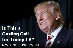 Is This a Casting Call for Trump TV?