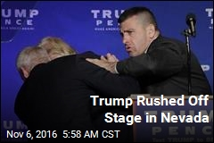 Trump Rushed Off Stage in Nevada