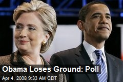 Obama Loses Ground: Poll