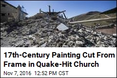 17th-Century Painting Cut From Frame in Quake-Hit Church