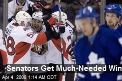 Senators Get Much-Needed Win