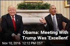Obama: Meeting With Trump Was 'Excellent'