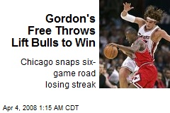 Gordon's Free Throws Lift Bulls to Win