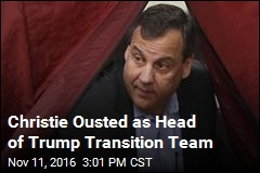 Pence Replaces Christie as Head of Trump Transition Team