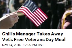 Chili's Manager Takes Away Vet's Free Veterans Day Meal
