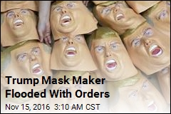Trump Mask Factory Flooded With Orders