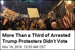 112 Trump Protesters Arrested. At Least 39 Didn't Vote at All